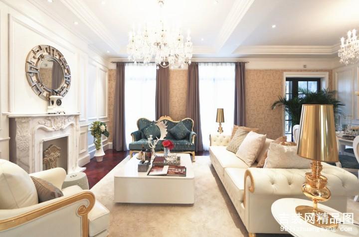 金色珑庭欧式风格普通住宅装修设计效果图