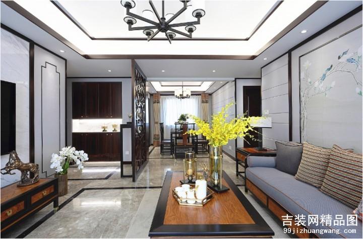 公元世家新中式风格普通住宅装修设计效果图