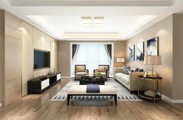 江山万里现代风格普通住宅装修设计效果图
