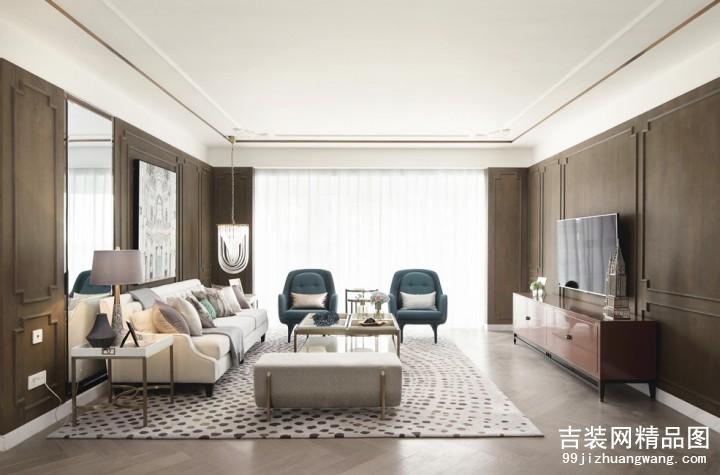 风格首岸现代法式风格普通住宅装修设计效果图