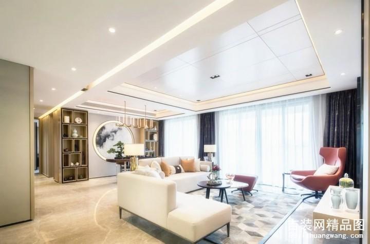 中海国际现代简约风格普通住宅装修设计效果图