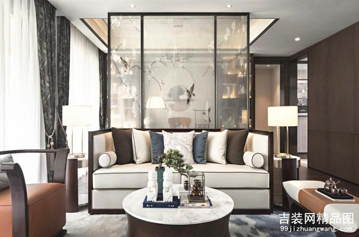 雅旭花苑美式风格普通住宅装修设计效果图