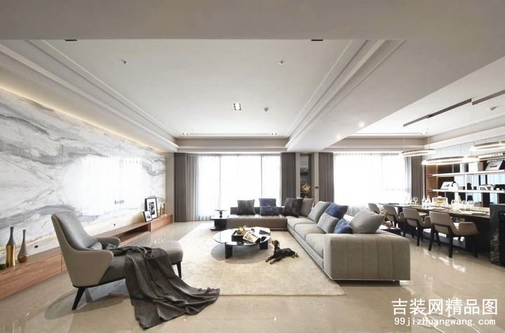 天一家园现代简约风格普通住宅装修设计效果图