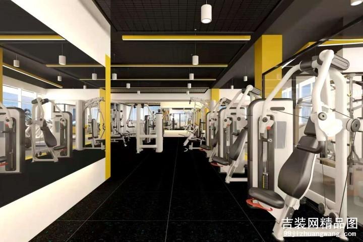 400平方健身中心装修案例