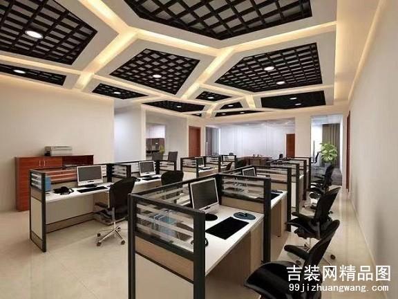 宁波五峰科技办公装修1200平方